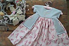 Detské oblečenie - šatky (s monogramom) - 10525643_