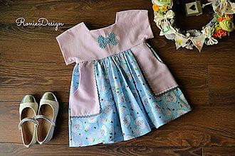 Detské oblečenie - šatky (modré) - 10525621_