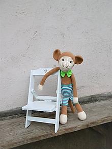Hračky - opička v pásikavých nohaviciach - 10527144_