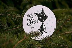 Detské doplnky - Míľnikové kartičky (zvieratká z lesa) (Tyrkysová) - 10525725_