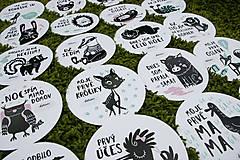 Detské doplnky - Míľnikové kartičky (zvieratká z lesa) (Tyrkysová) - 10525739_