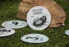 Detské doplnky - Míľnikové kartičky (zvieratká z lesa) (Tyrkysová) - 10525761_