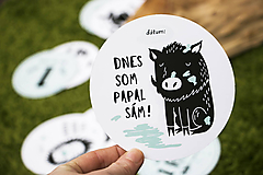Detské doplnky - Míľnikové kartičky (zvieratká z lesa) - 10525765_