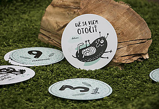 Detské doplnky - Míľnikové kartičky (zvieratká z lesa) - 10525761_