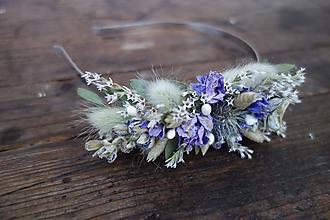 Ozdoby do vlasov - Kvetinová čelenka zo sušených kvetov - 10528037_