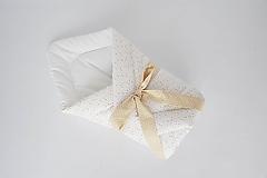 Textil - Zavinovačka biela s ružovo-horčicovými vzormi - 10525863_