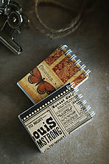Papiernictvo - Vintage mini zápisníčky - 10526241_