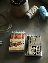 Papiernictvo - Vintage mini zápisníčky - 10526242_