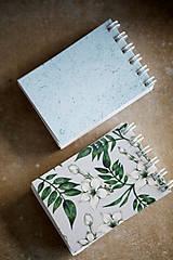 Papiernictvo - Kvetinové mini zápisníčky - 10526259_