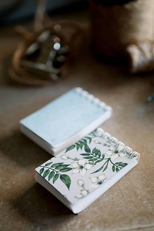 Kvetinové mini zápisníčky