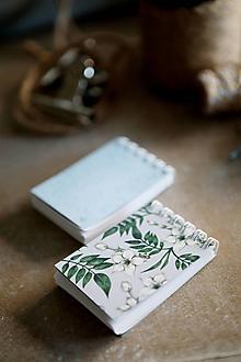Papiernictvo - Kvetinové mini zápisníčky - 10526261_