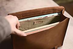 Na notebook - Kožená taška Suzi - 10528388_