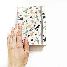 Papiernictvo - ZÁPISNÍK vtáčikový I. (ľubovoľný nápis) - 10525448_