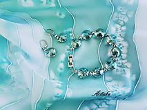Šály - AKCIA-SET : šál + náramok+náušnice - 10525753_