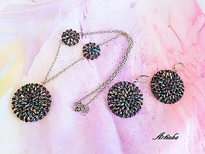 Šály - AKCIA-SET : šálik+náhrdelník+náušnice - 10525669_