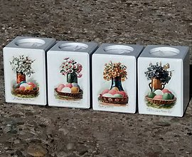 Svietidlá a sviečky - drevené svietniky Pasqua - 10527693_