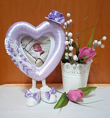 Rámiky - Fotorámik s fialovým klobúčikom - 10528953_