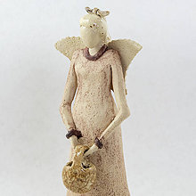 Dekorácie - Keramický anjelik - Bohdana. Výška 17 cm - 10525430_
