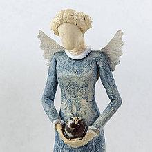 Dekorácie - Keramický anjelik - Radovana. Výška 17 cm - 10527532_