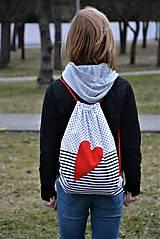 Batohy - Batoh/backpack červené srdce - 10525354_
