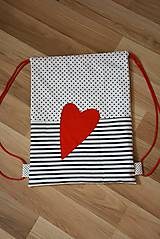 Batohy - Batoh/backpack červené srdce - 10525355_