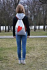 Batohy - Batoh/backpack červené srdce - 10525358_