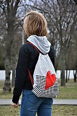 Batohy - Batoh/backpack červené srdce - 10525363_