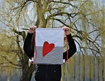 Batohy - Batoh/backpack červené srdce - 10525365_