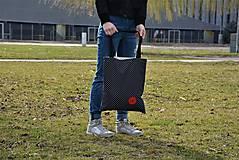 Veľké tašky - Taška/shopper červené srdce - 10526543_