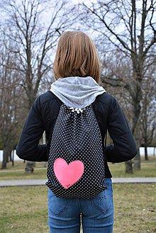 Batohy - Batoh/backpack ružové srdce II - 10525249_