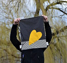 Batohy - Batoh/backpack žlté srdce I - 10525272_
