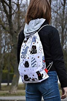 Batohy - Batoh/backpack mačky - 10525382_