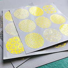 Papier - zlaté okrúhle nálepky Orient - 10525628_