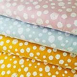 Textil - bavlnený úplet Okrové machuľky, šírka 150 cm - 10525688_