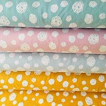 Textil - bavlnený úplet Svetlotyrkysové machuľky, šírka 150 cm - 10527877_
