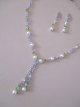 Sady šperkov - Swarovski - sada šperkov v jarných farbách - chirurgická oceľ - 10465485_