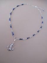 KOTVA - náhrdelník - modro strieborný