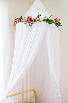 Úžitkový textil - Krajkový baldachýn - 10528919_