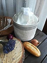 Ľanový košík a vrecko v jednom na pečivo