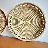 - Bohemian woven plate | Pletený palmový kôšík - 10525602_