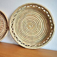 Košíky - Bohemian woven plate | Pletený palmový kôšík - 10525602_