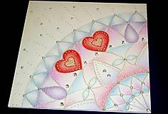 Papiernictvo - Pohľadnica romantická...svadobná - 10527550_