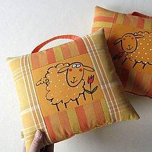 Úžitkový textil - OVEČKOVÝ VELIKONOČNÍ - polštář - 10528950_