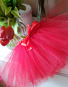 Detské oblečenie - Červená tutu s mašľou - 10526733_