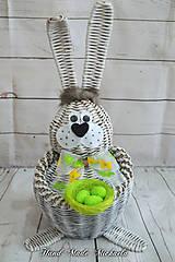 Dekorácie - velkonočný zajko - 10528521_