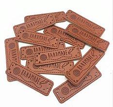 Galantéria - NT107 Nášivka kožená Handmade 5x1,5 cm - 10528664_