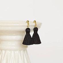 Náušnice - Malé čierne náušnice - 10527836_