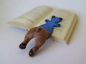 Papiernictvo - Záložka do knihy - macko - 10525588_