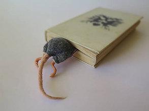 Papiernictvo - Záložka do knihy - myška - 10525616_