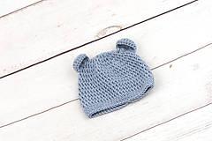 Detské súpravy - Modrá súprava macko zimná EXTRA FINE - 10526126_
